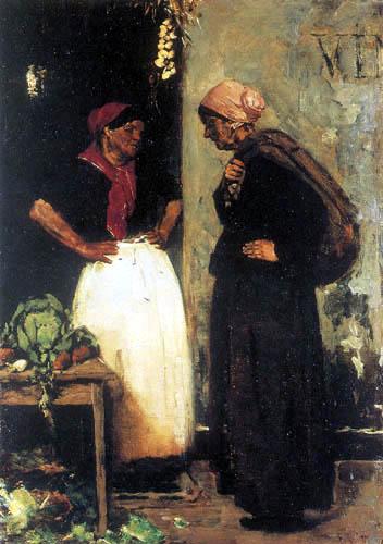 Max Liebermann - Market scene