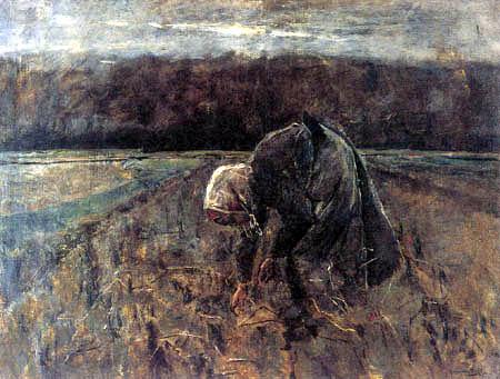 Max Liebermann - Kartoffelsammlerin