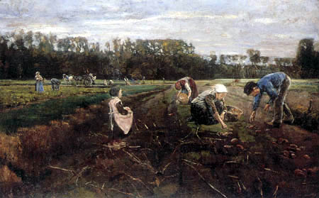 Max Liebermann - Potato harvest near Barbizon