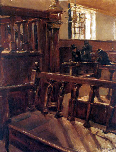 Max Liebermann - The synagogue in Amsterdam