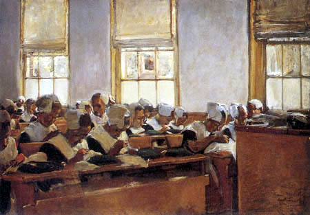 Max Liebermann - Sewing school in Amsterdam
