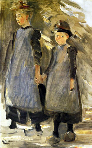 Max Liebermann - Two girls in Laren