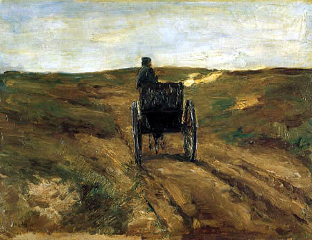 Max Liebermann - Cart in the dunes