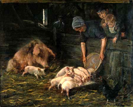 Max Liebermann - The nursery, pigsty