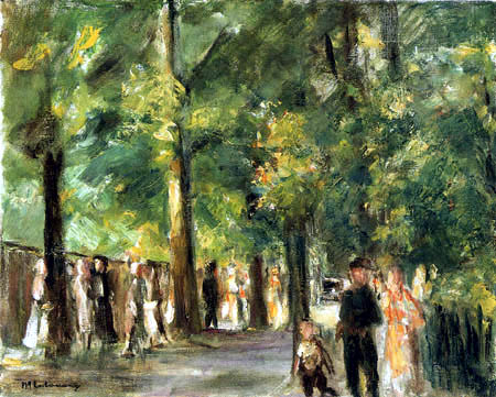 Max Liebermann - Great Street in Wannsee with walkers