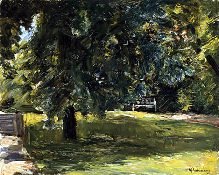 Max Liebermann - The garden bench under the chestnut tree
