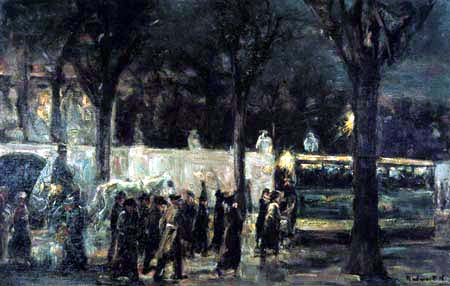 Max Liebermann - Abend am Brandenburger Tor