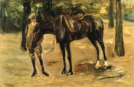 Max Liebermann - The groom with horse