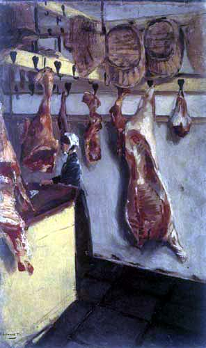 Max Liebermann - Butcher shop in Dordrecht