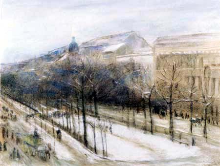 Max Liebermann - View of the street Unter den Linden