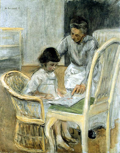Max Liebermann - Granddaughter and nanny