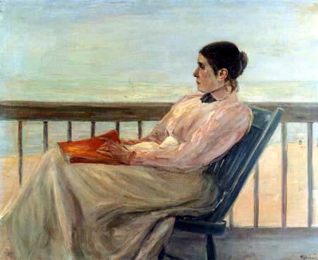 Max Liebermann - Die Gattin auf dem Balkon