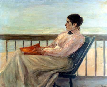 Max Liebermann - The wife on the balcony
