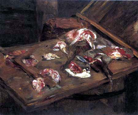 Max Liebermann - Still life with meat