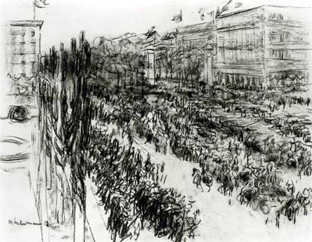 Max Liebermann - Entry of the troops on the Pariser Platz