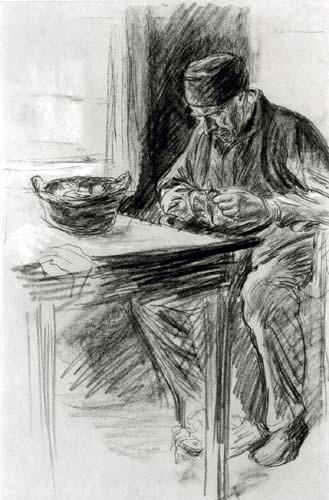 Max Liebermann - Kartoffelschälender Mann