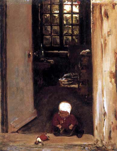 Max Liebermann - Playing Child in the Door