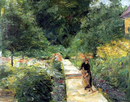 Max Liebermann - The vegetable garden in Wannsee, looking west