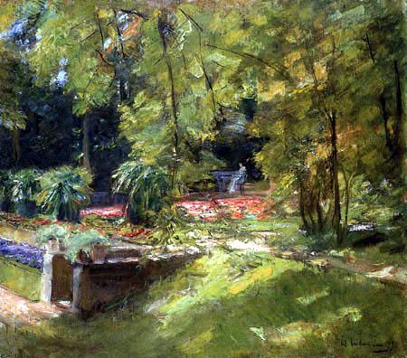 Max Liebermann - Die Blumenterrasse im Wannseegarten