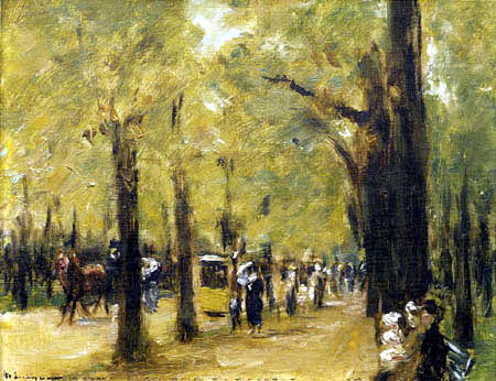 Max Liebermann - Avenue in the Tiergarten