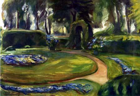 Max Liebermann - The circular flower bed in the garden