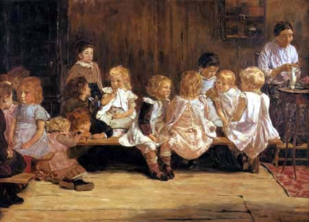 Max Liebermann - Nursery school in Amsterdam