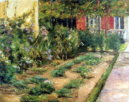 Max Liebermann - Shrubs of flowers at the gardener's house