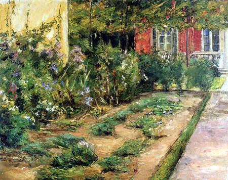 Max Liebermann - Blumenstauden am Gärtnerhäuschen