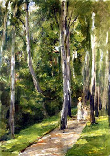 Max Liebermann - Alley of Birches, Wannsee