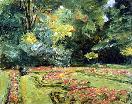 Max Liebermann - La terrasse de fleurs dans le jardin, Wannsee