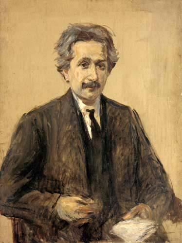 Max Liebermann - Portrait of Professor Albert Einstein