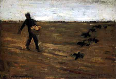 Max Liebermann - The Sower, Study