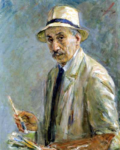Max Liebermann - Self Portrait with Brushes