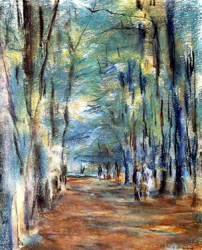 Max Liebermann - Avenue near the hunting lodge Dreilinden