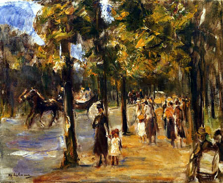 Max Liebermann - Boulevard in the Tiergarten