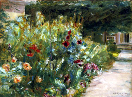 Max Liebermann - Shrubs of flowers at Gardeners Cottage