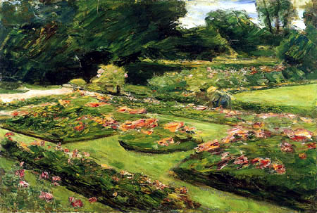 Max Liebermann - The flower terrace in the garden, Wannsee