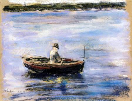 Max Liebermann - Angler im Boot, Wannsee