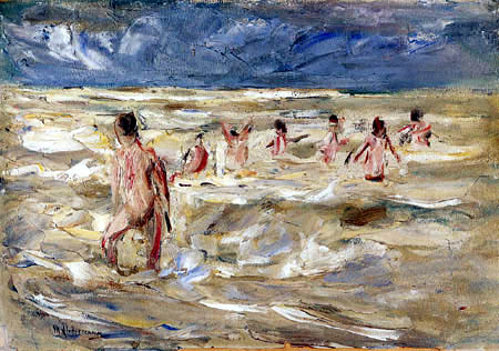Max Liebermann - Bathing boys