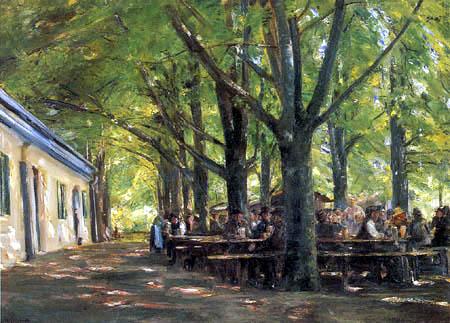 Max Liebermann - Biergarten in Brannenburg