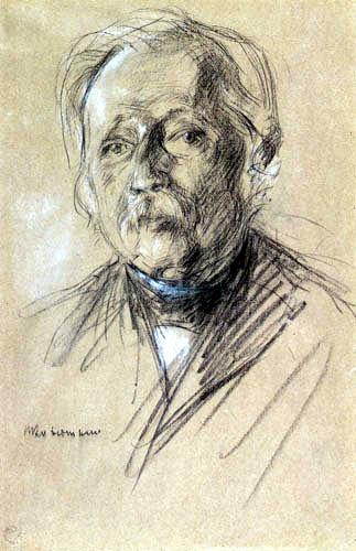 Max Liebermann - Bildnis Theodor Fontane