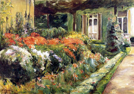 Max Liebermann - Blumengarten am Haus, Wannsee