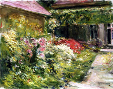 Max Liebermann - Flowers by the House of the Gardener
