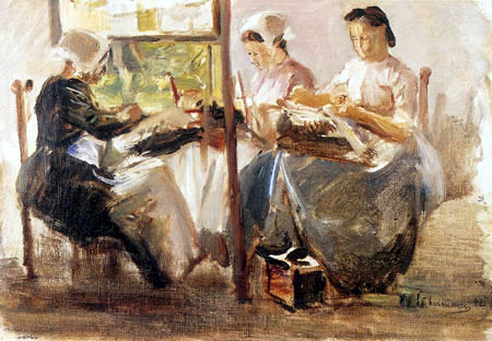 Max Liebermann - Study of lace makers