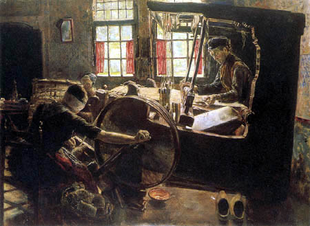 Max Liebermann - The Weaver