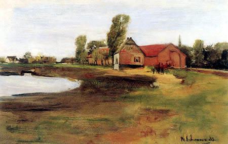 Max Liebermann - Landscape with a Pond