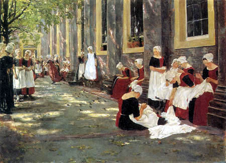 Max Liebermann - In the Orphanage, Amsterdam