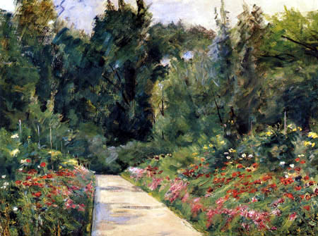 Max Liebermann - Garden patches with way and flowers