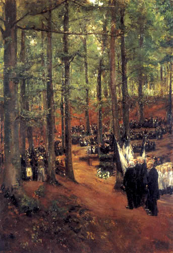 Max Liebermann - Commemoration for the imperator Friedrich III in Koesen