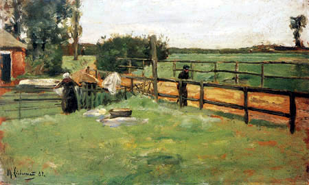 Max Liebermann - Farmstead, The Bleaching